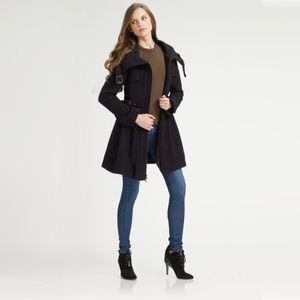 Nanette Lepore Poison Ring Wool Coat Navy Size 4